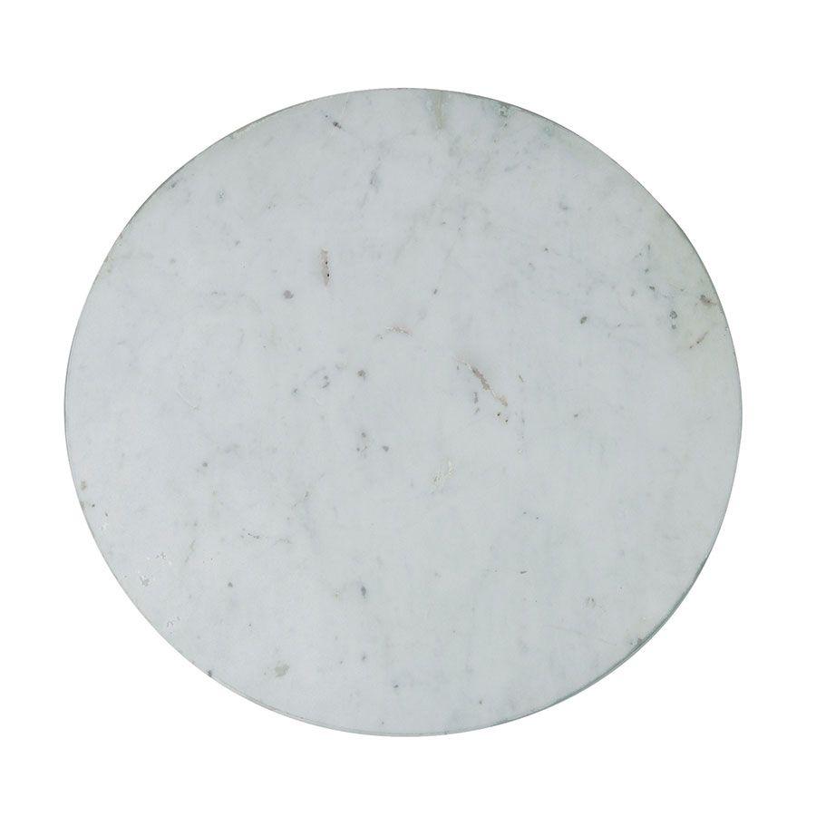 Guéridon marbre et métal