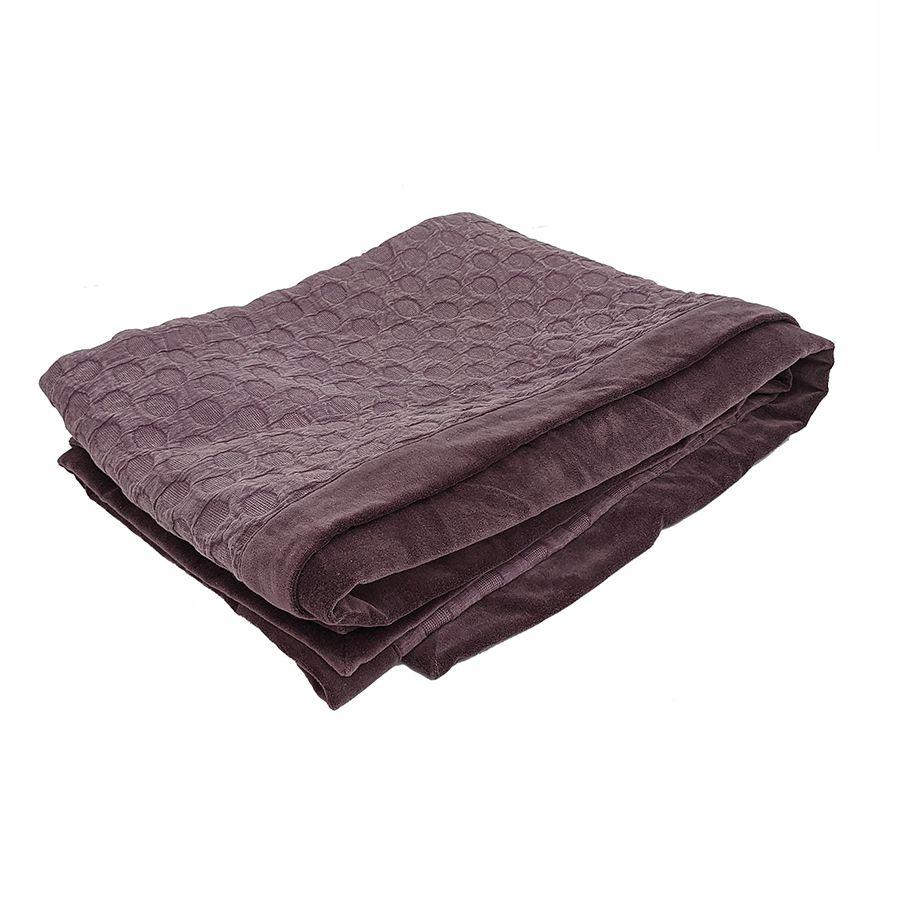 Boutis effet velours 130x180 violet