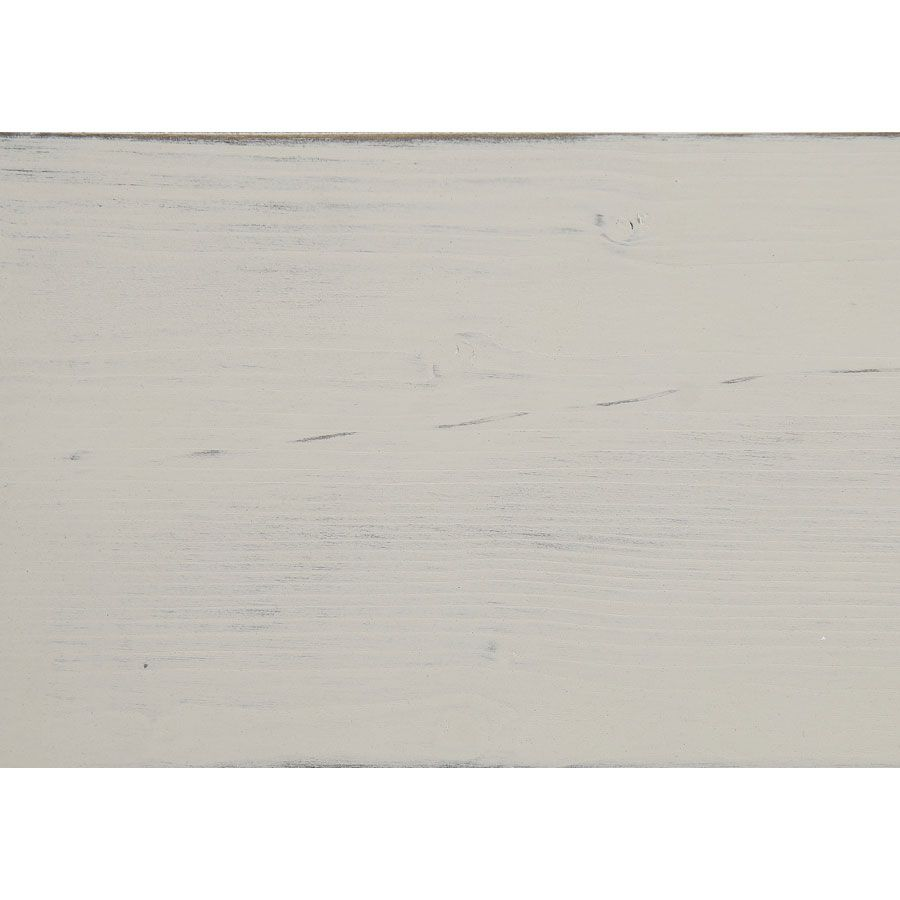 Vitrine blanche 2 portes en épicéa massif - Provence