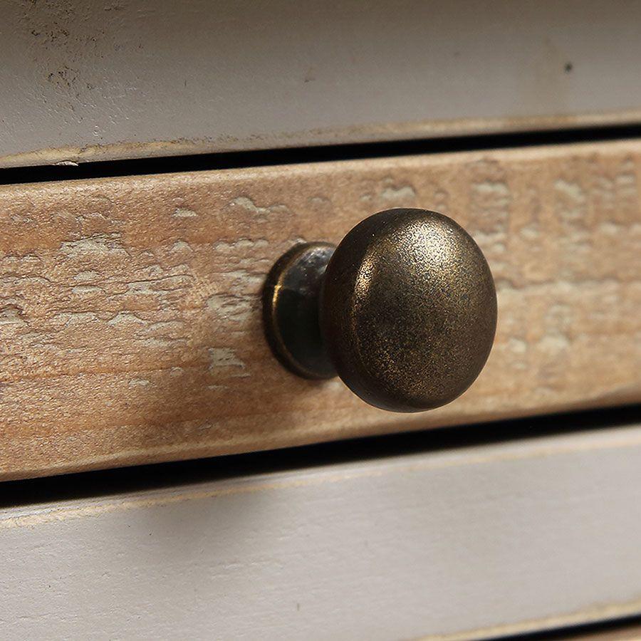 Console grise en épicéa massif - Provence