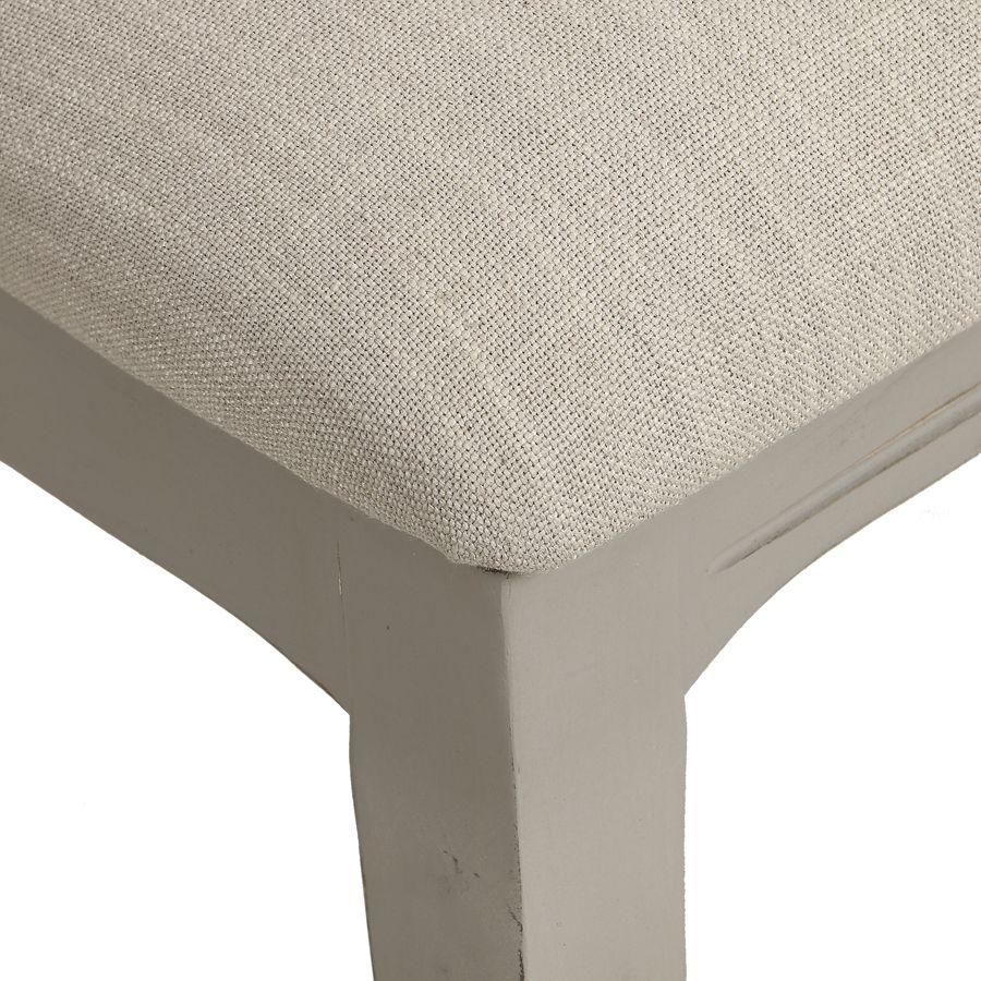 Chaise grise en tissu et hévéa - Provence