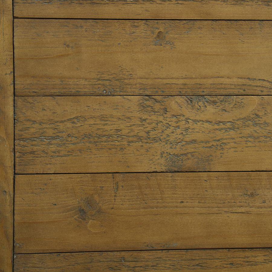 Lit pour literie 180x200 cm en épicéa blanc vieilli - Provence