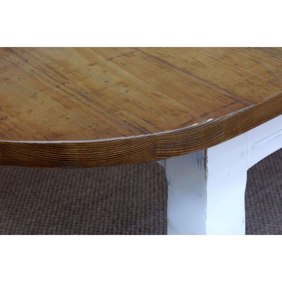 Table ovale extensible blanche en épicéa 10 personnes - Provence