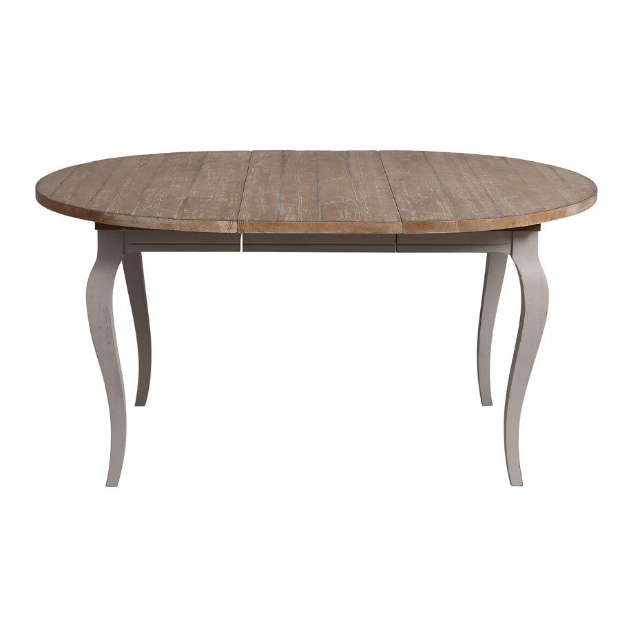 Table ronde extensible en épicéa massif 8 personnes - Provence