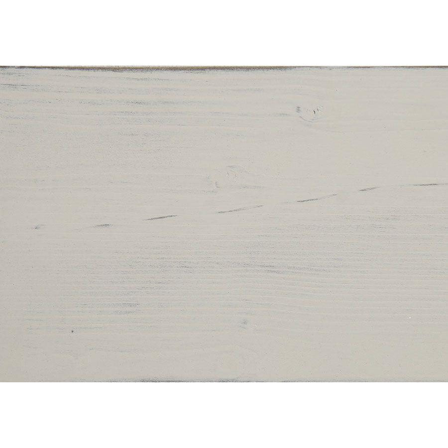 Meuble TV blanc avec rangements en épicéa massif - Provence