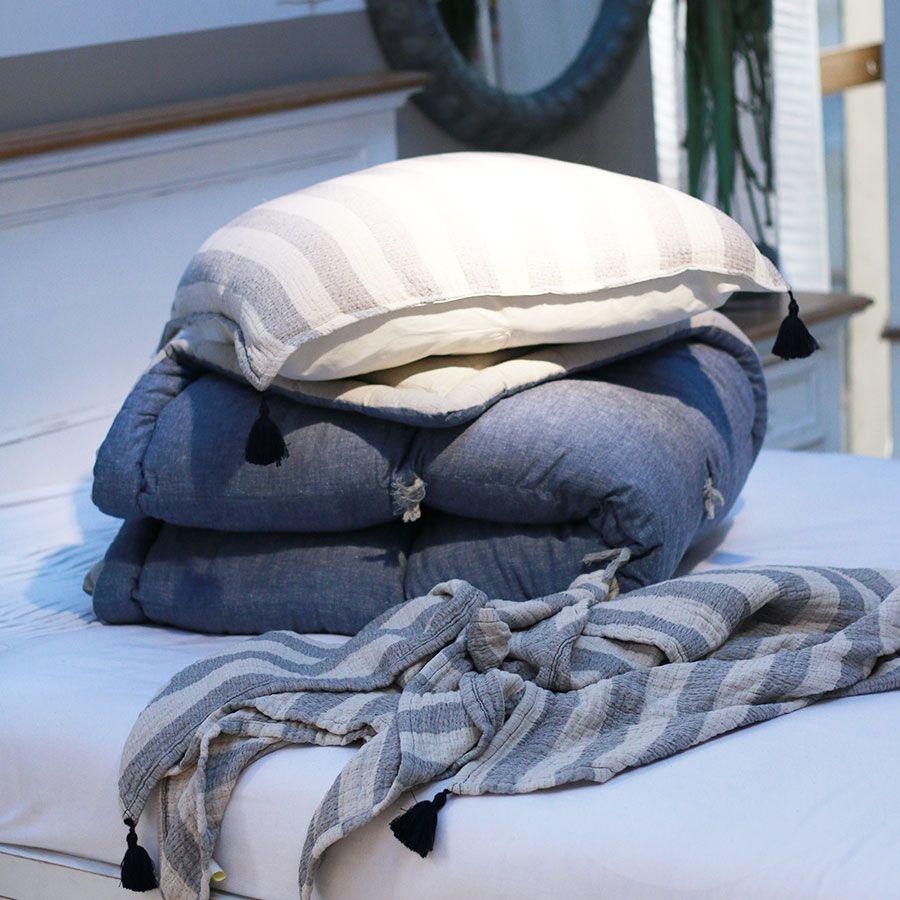 Édredon en coton et lin 130x180 cm