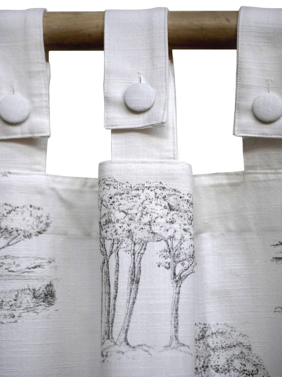 Rideau imprimé a motifs 140x270