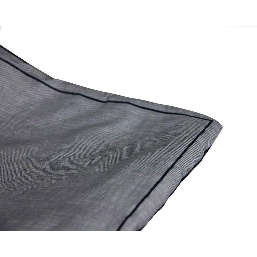 Boutis bleu réversible en coton 130x180 cm