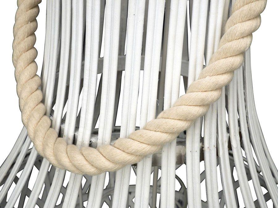 Lanterne blanche en bambou