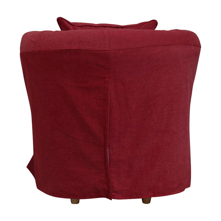 Fauteuil cabriolet en tissu rouge foncé - Bristol