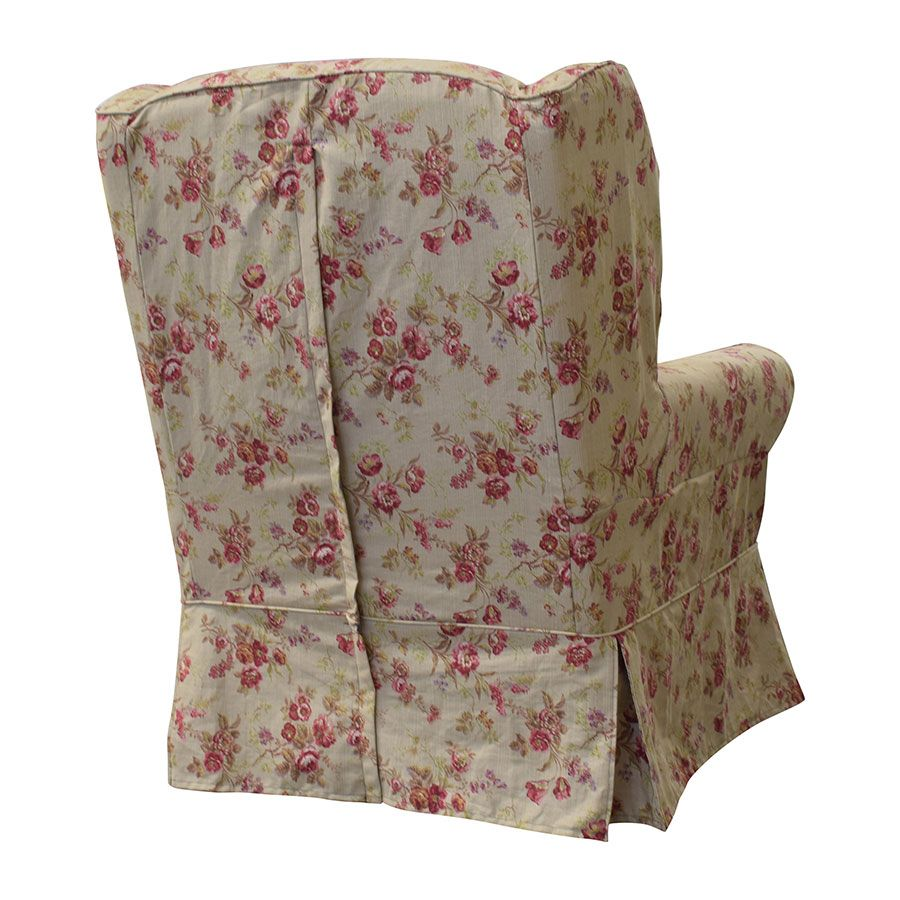 Fauteuil en tissu Tiffany Fleuri - Claridge