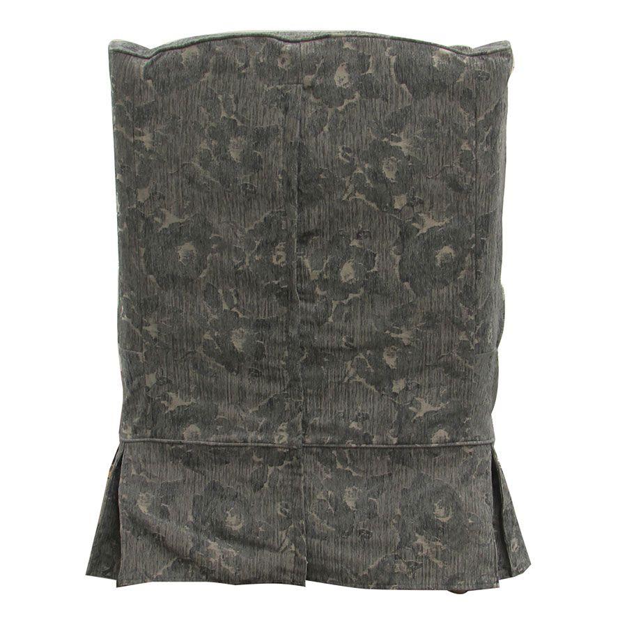 Fauteuil en tissu gris fleuri - Claridge