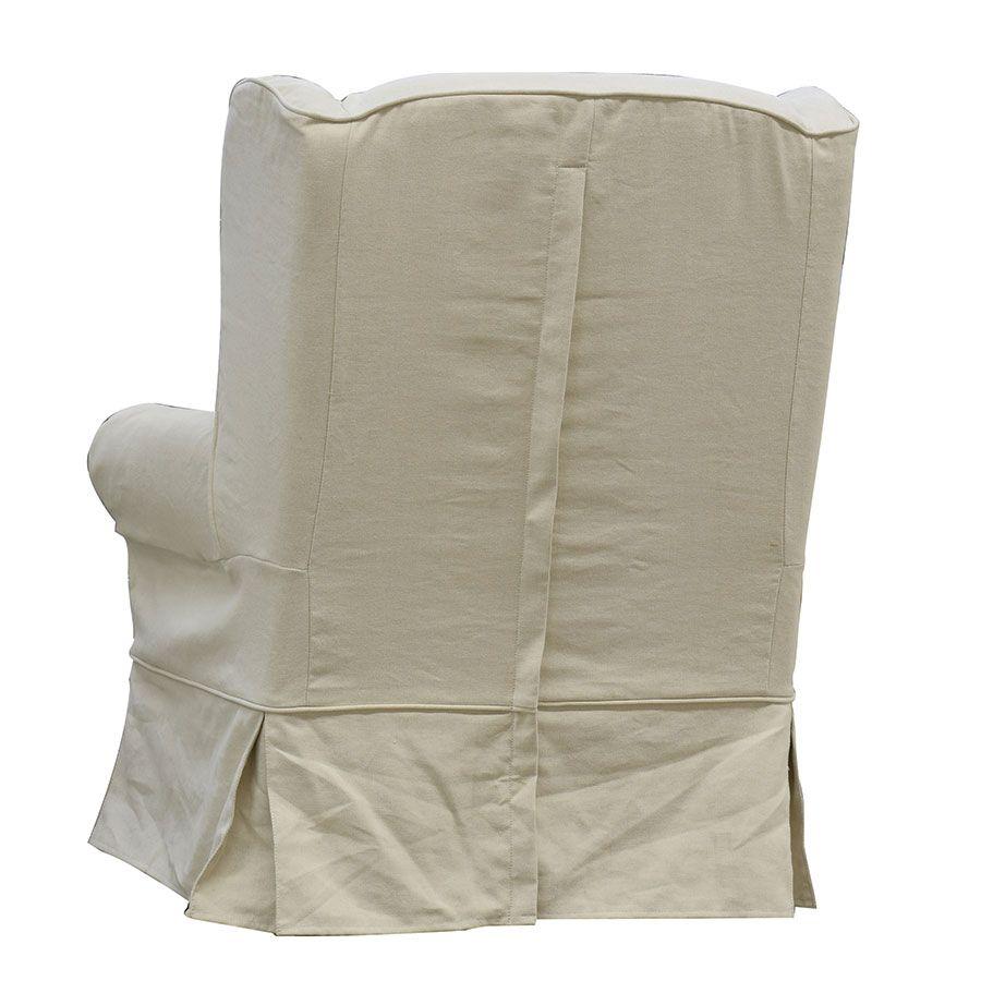 Fauteuil en tissu lin beige - Claridge