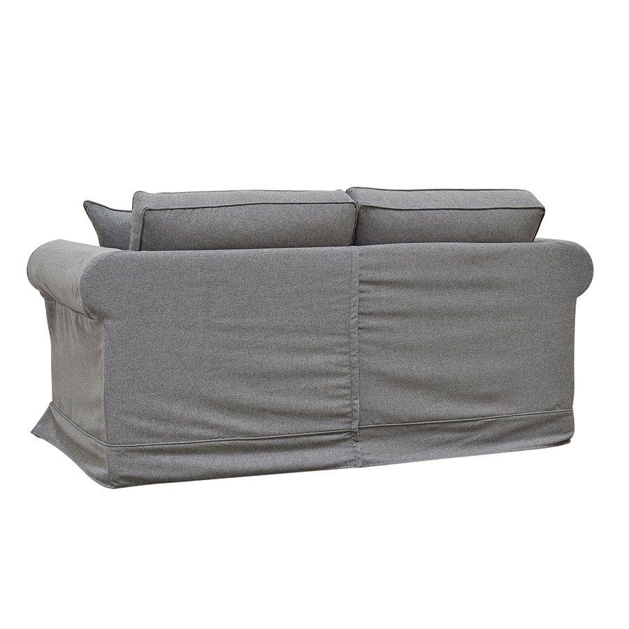 Canapé 2 places en tissu gris anthracite - Crowson