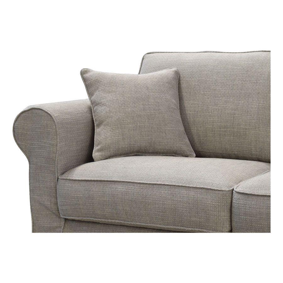 Canapé 2 places en tissu gris - Crowson