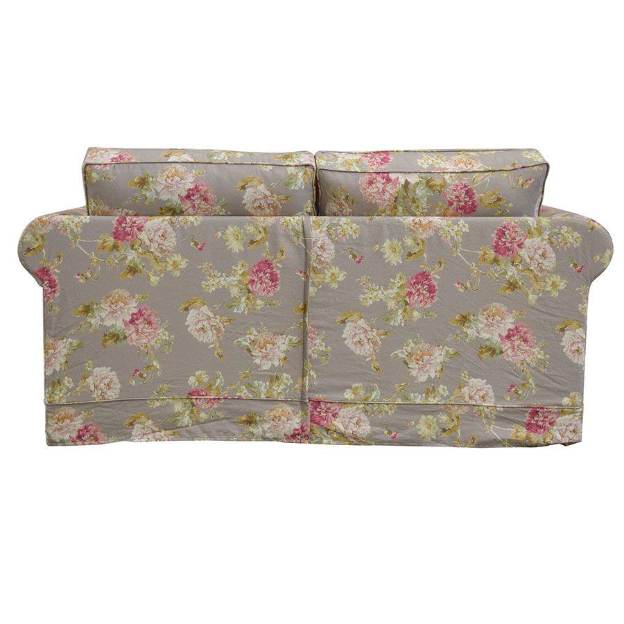 Canapé 2 places en tissu à motif fleuri - Crowson