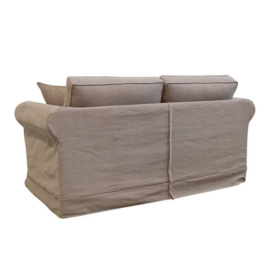 Canapé 2 places en tissu marron clair - Crowson