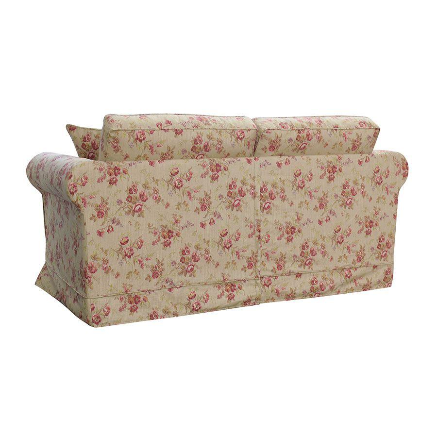 Canapé convertible 2 places en tissu fleuri tiffany - Crowson