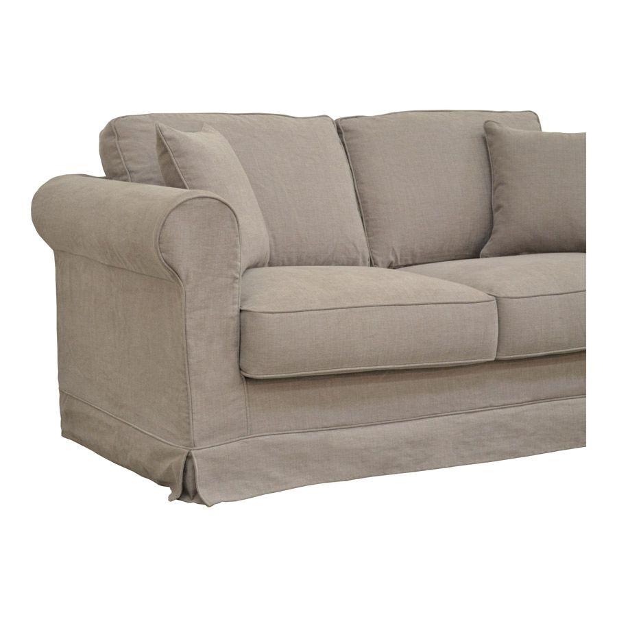 Canapé convertible 2 places en tissu beige - Crowson