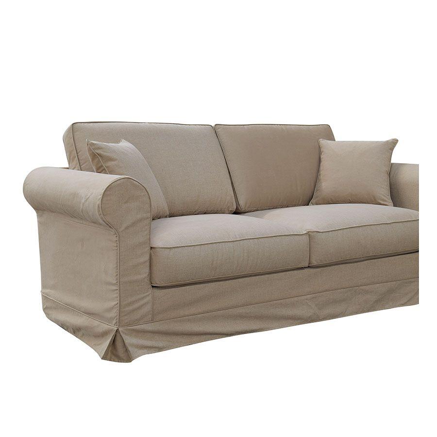 Canapé 3 places en tissu camel - Crowson