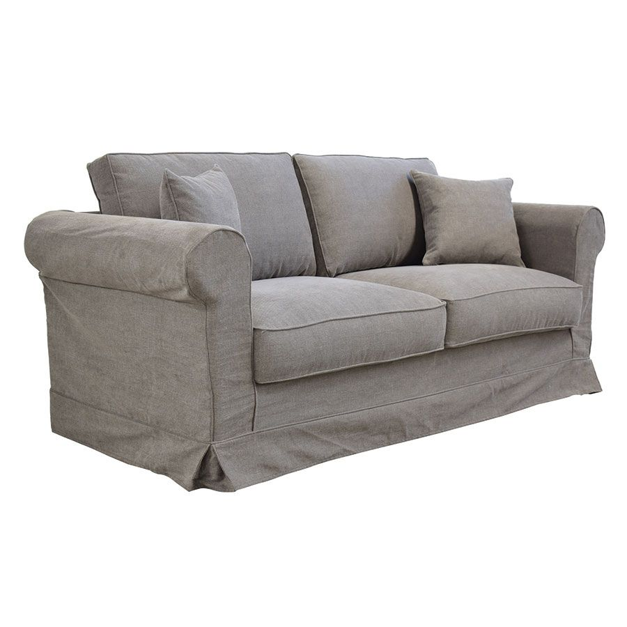Canapé 3 places en tissu taupe  - Crowson