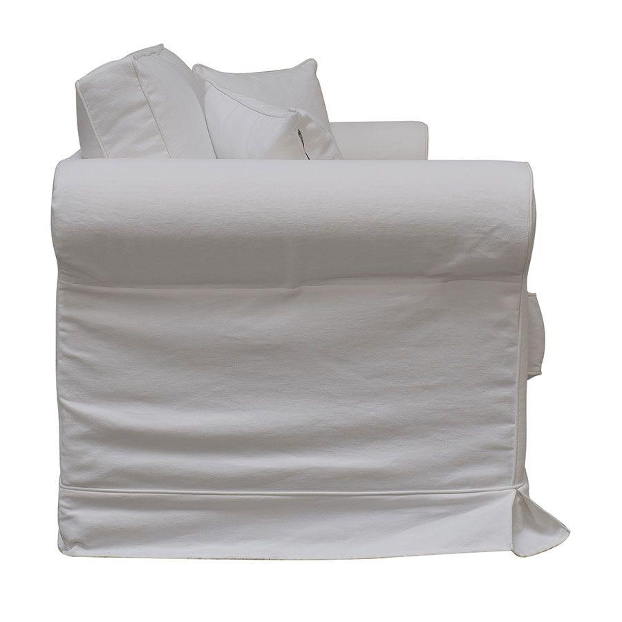 Canapé 3 places en tissu blanc - Crowson