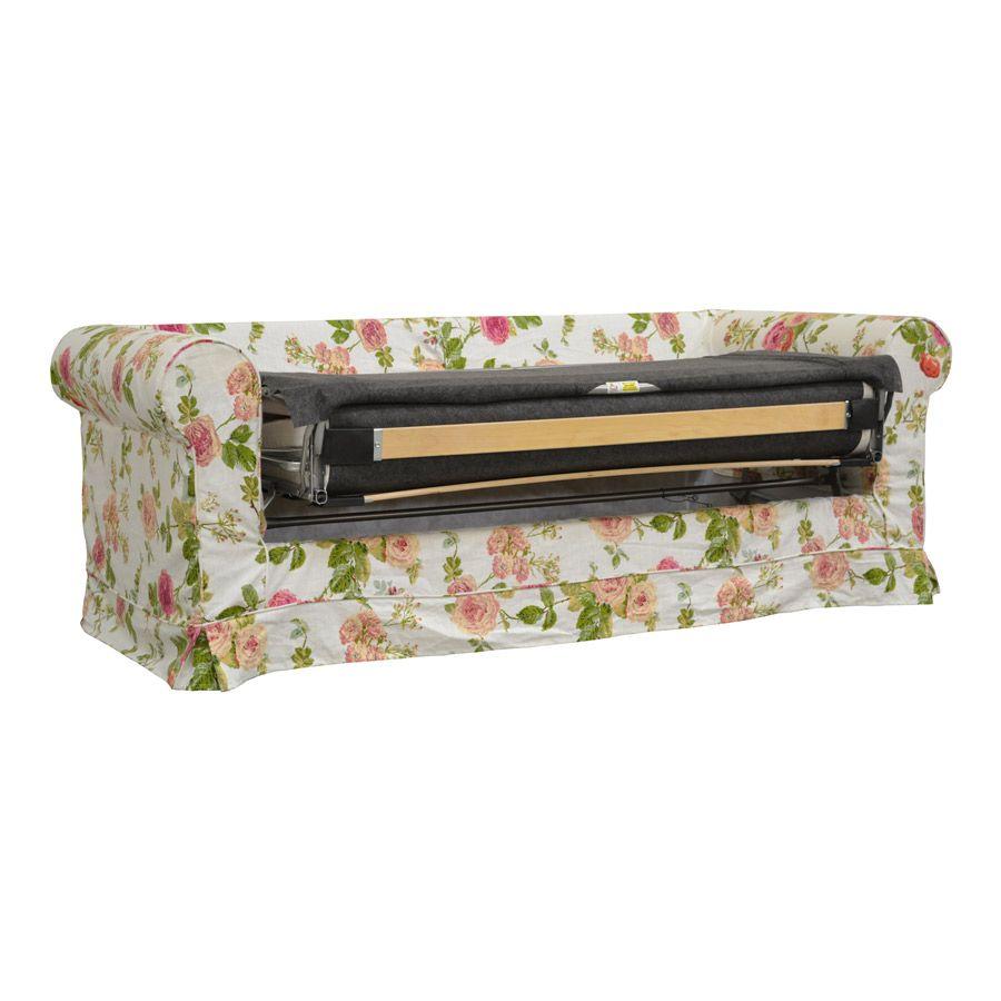 Canapé convertible 3 places en tissu fleuri - Crowson