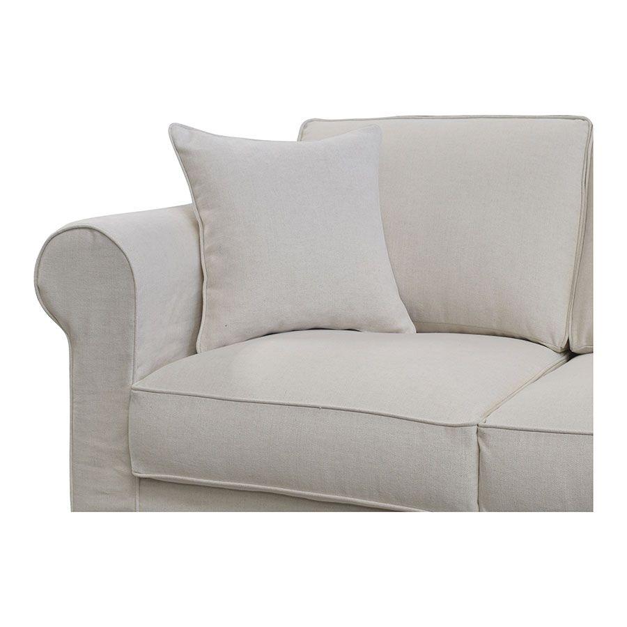 Canapé 4 places en tissu beige - Crowson