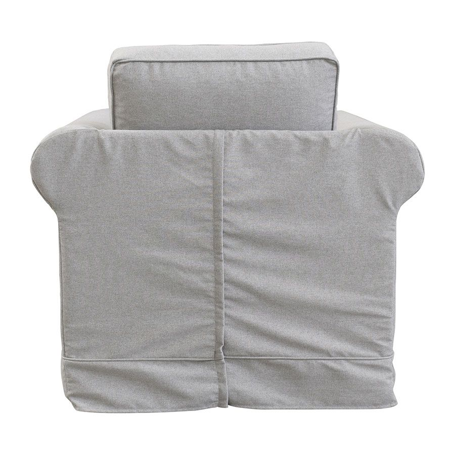Fauteuil en tissu gris clair - Crowson