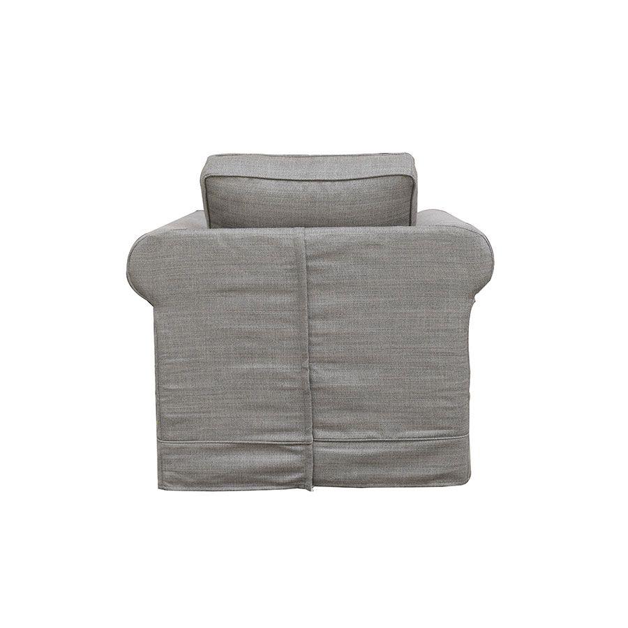 Fauteuil en tissu gris - Crowson