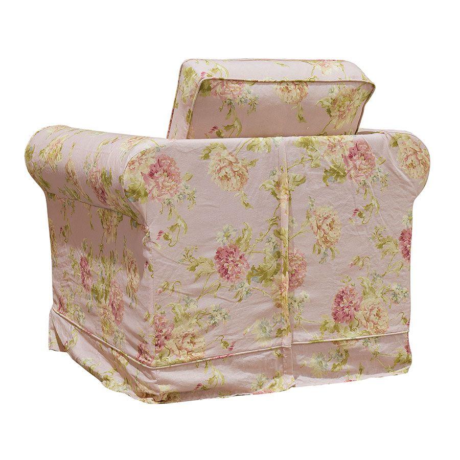 Fauteuil en tissu nancy pink - Crowson