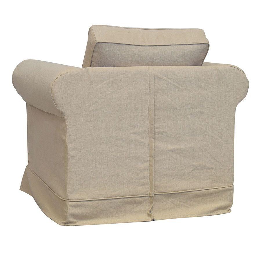 Fauteuil en coton beige - Crowson
