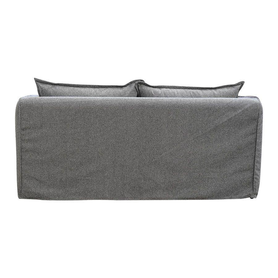 Canapé 4 places en tissu gris - Hampton
