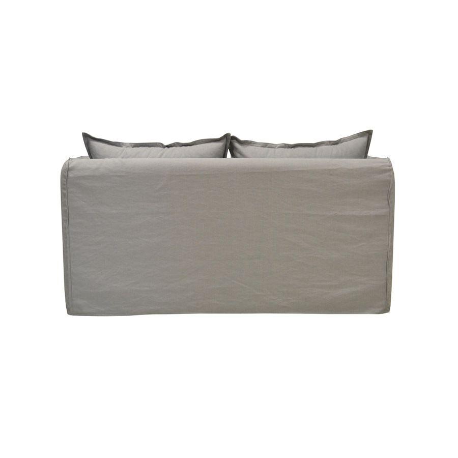 Canapé 4 places gris clair en tissu - Hampton