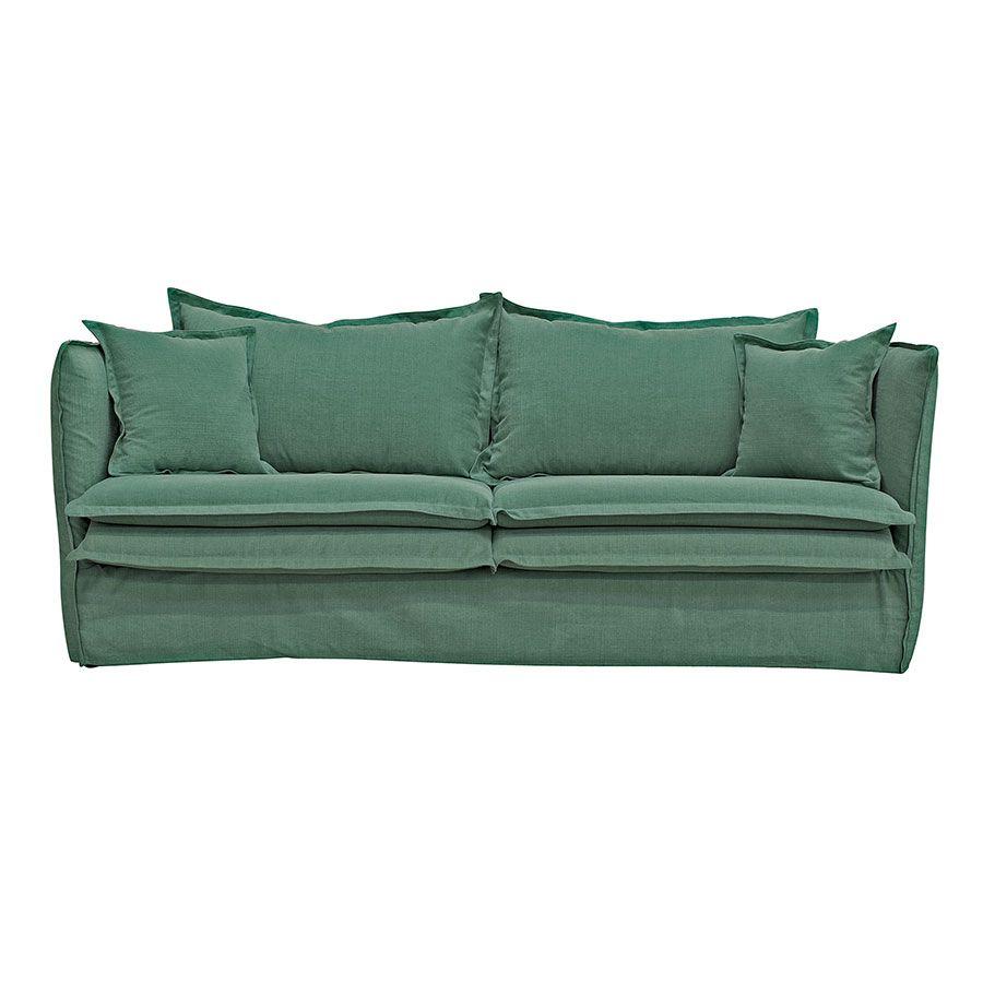 Canapé 4 places en tissu vert - Hampton
