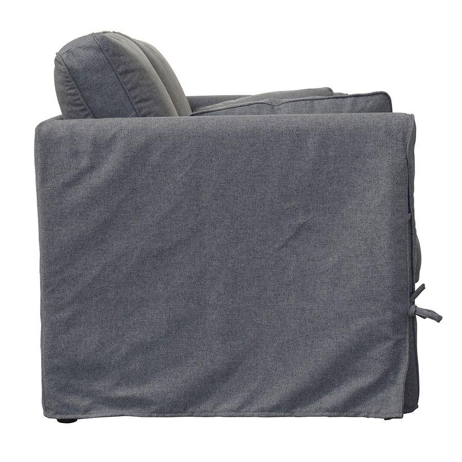 Canapé 2 places en tissu gris anthracite - Welsh