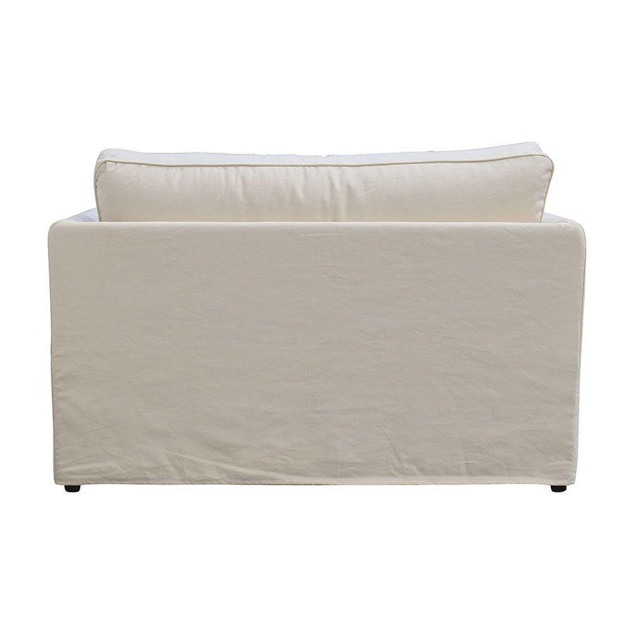 Canapé 2 places en tissu écru  - Welsh