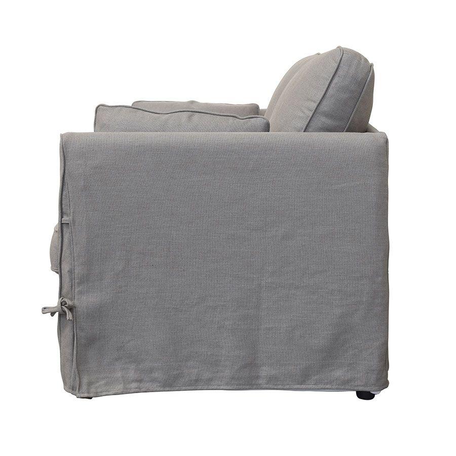 Canapé 2 places en tissu taupe - Welsh
