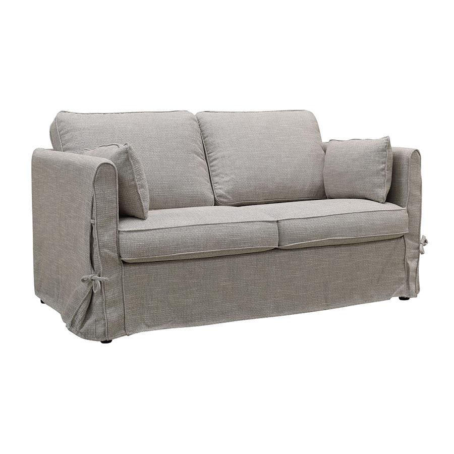Canapé 2 places en tissu gris losange  - Welsh