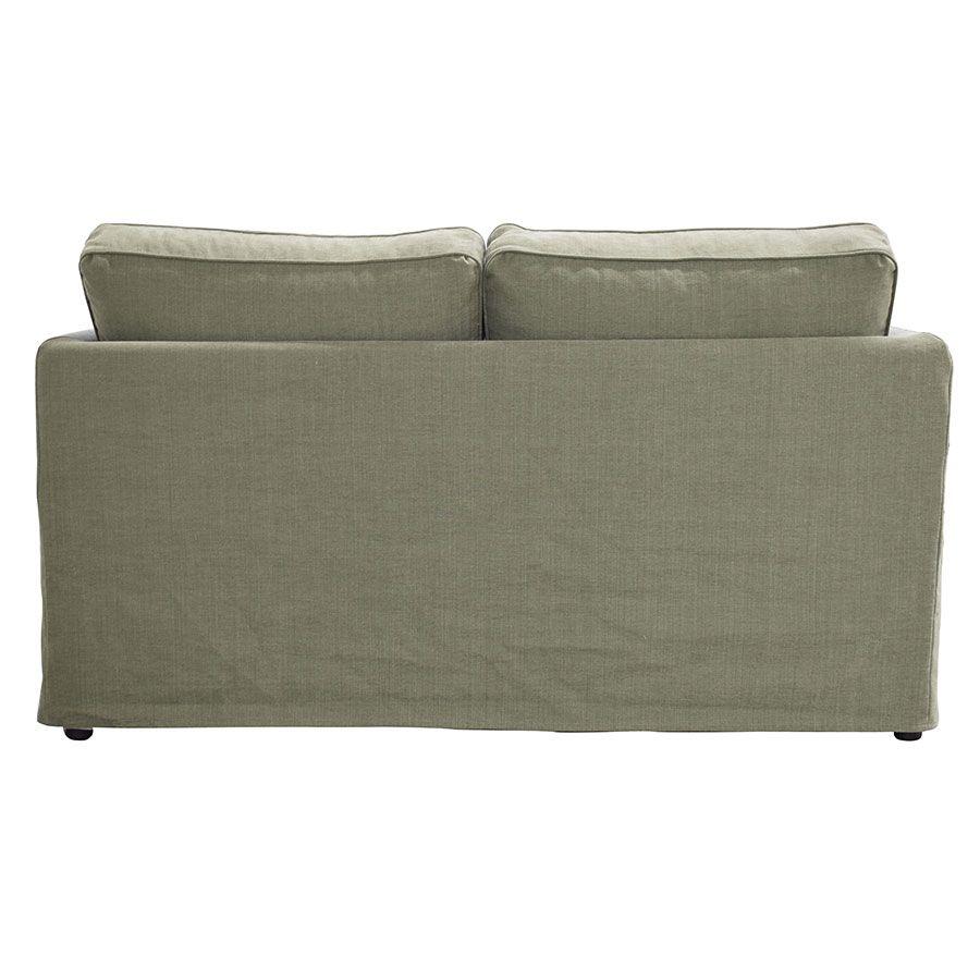Canapé 2 places en tissu vert kaki - Welsh