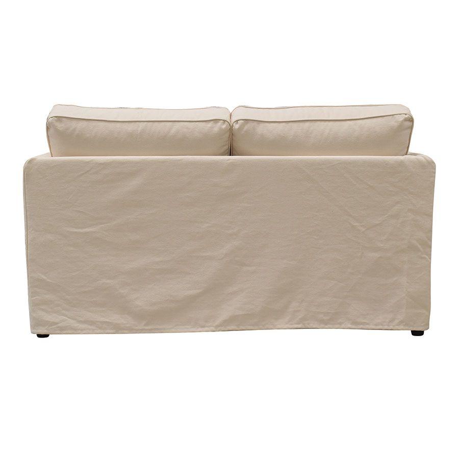 Canapé 2 places en tissu crème - Welsh