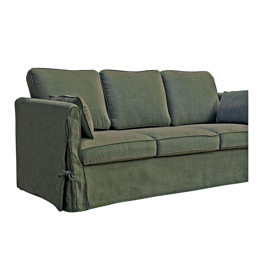 Canapé 4 places en tissu kaki - Welsh