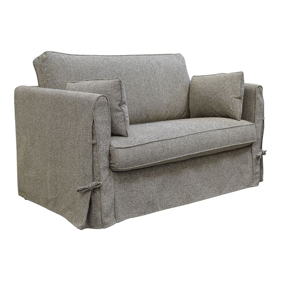Canapé 2 places en tissu gris - mini Welsh