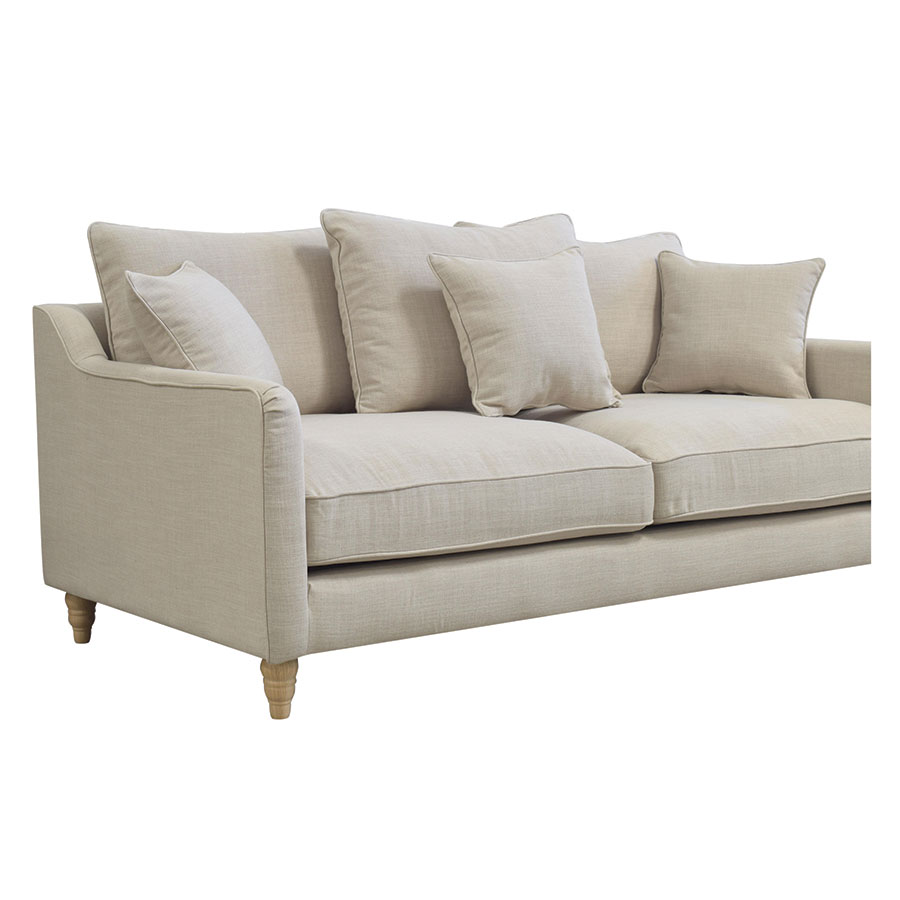 Canapé 4 places en lin écru - Rivoli