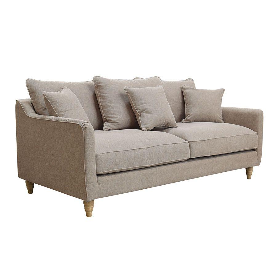 Canapé 4 places en tissu naturel - Rivoli