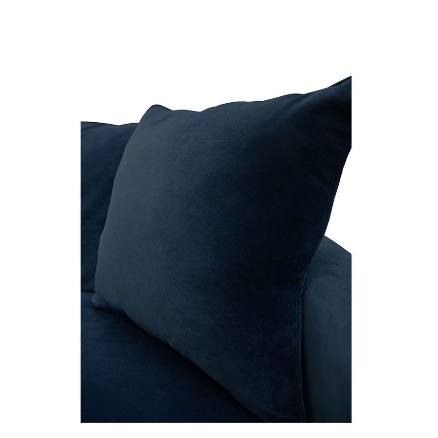 Canapé 4 places en velours bleu - Rivoli