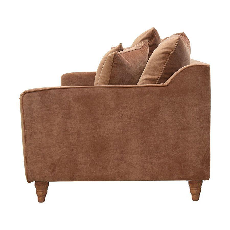 Canapé 4 places en velours terracotta - Rivoli
