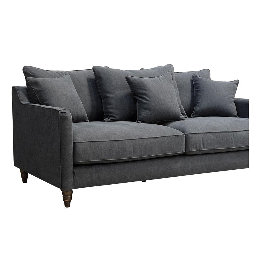 Canapé 4 places en tissu noir - Rivoli