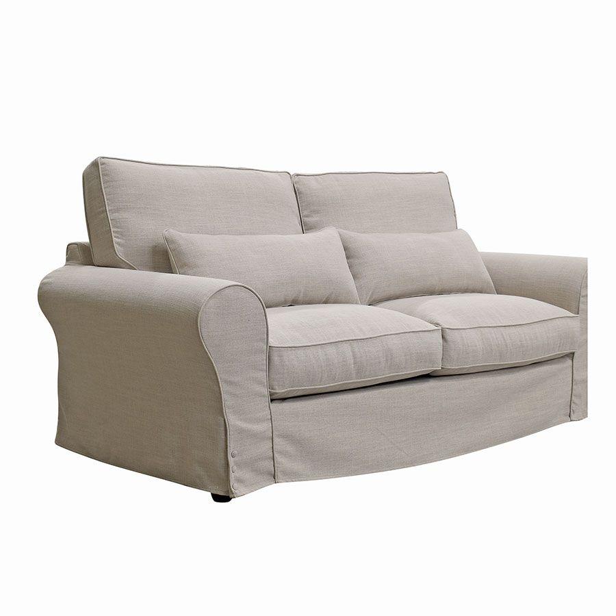 Canapé 3 places en tissu écru - Newport
