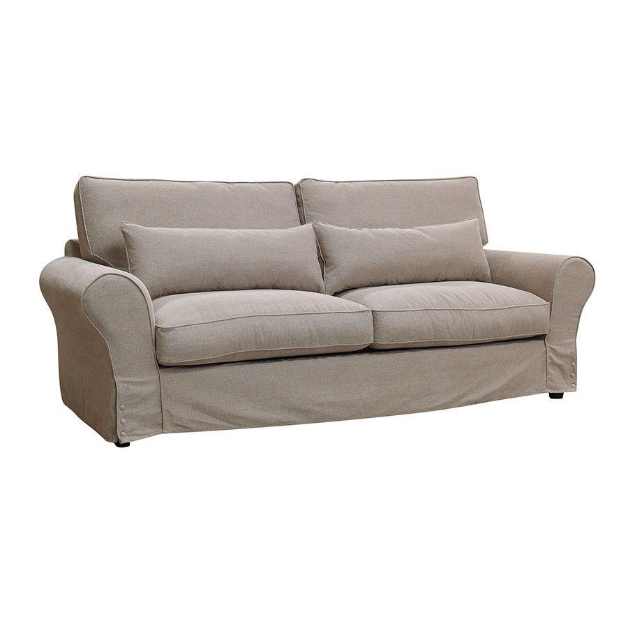 Canapé 4 places en tissu naturel - Newport